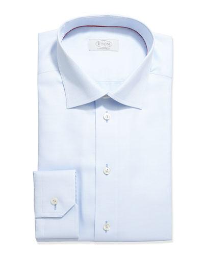 Contemporary-Fit Tonal Textured Dress Shirt, Pale Blue