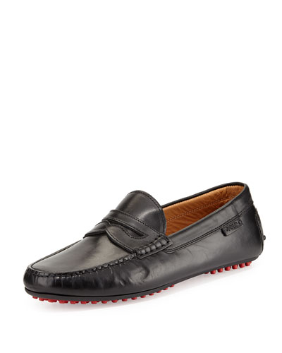 Penny Leather Driver, Black