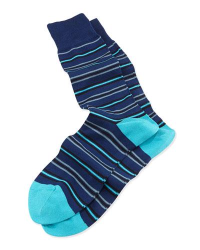 TT Stripe Socks, Navy