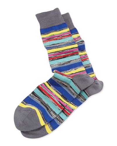 U-Twist Stripe Socks, Gray