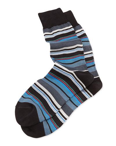Rufus Stripe Socks, Black