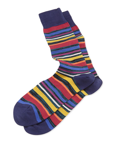 U Twist Stripe Socks, Navy