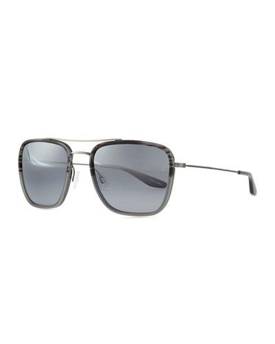 Collins Square Aviator Sunglasses, Gray