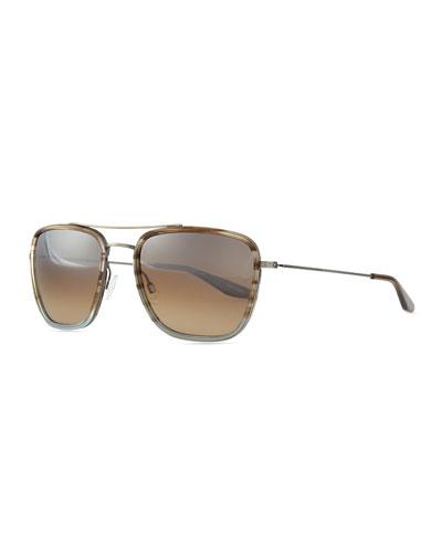Collins Square Aviator Sunglasses, Light Blue