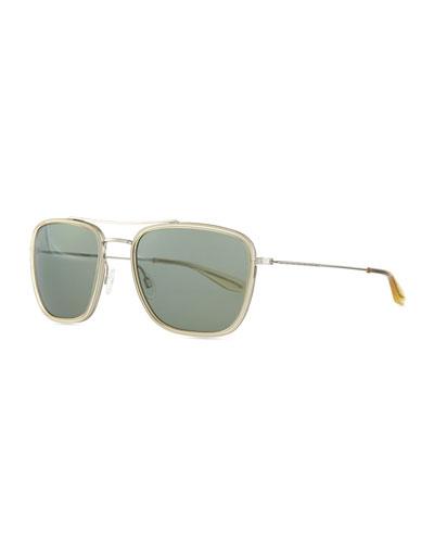 Collins Square Aviator Sunglasses, Clear