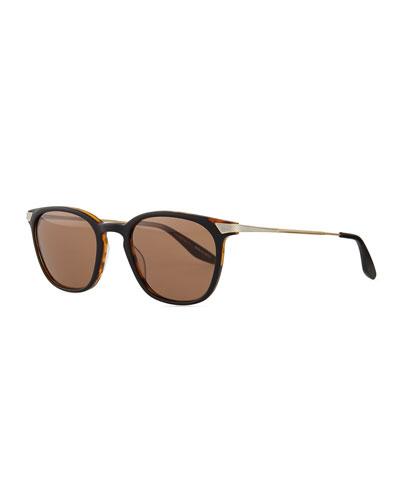 Dean Rectangular Sunglasses, Black