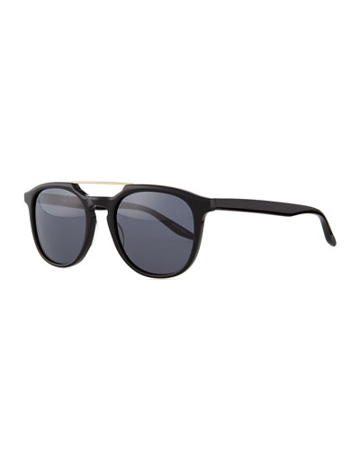 Rainey Top-Bar-Detail Sunglasses, Black