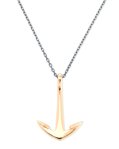 Anchor Pendant Necklace, Rose