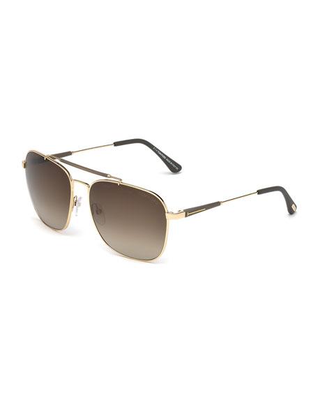 aad5e631550 TOM FORD Edward Square Sunglasses