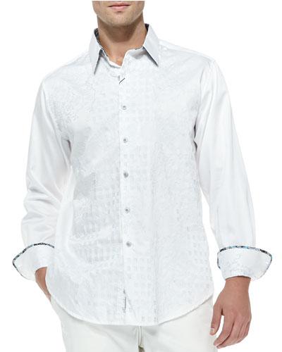 Aloha Long-Sleeve Sport Shirt, White
