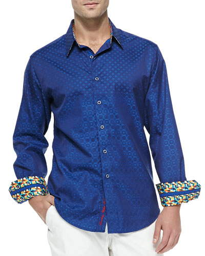 Tidepool Long-Sleeve Sport Shirt, Blue