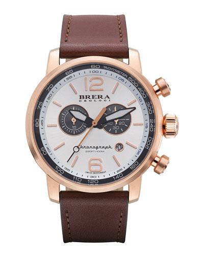 Dinamico Chronograph Watch, Rose/Silver