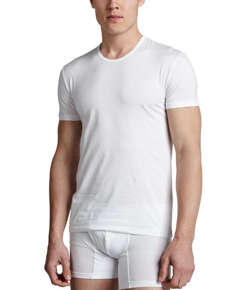 6a4a8ef9 Crewneck Stretch-Cotton T-Shirt White