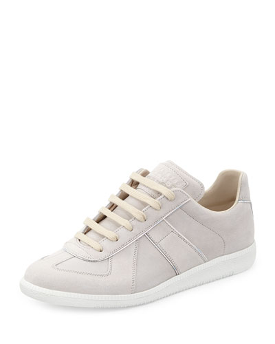 Replay Hologram Leather Low-Top Sneaker, Off White