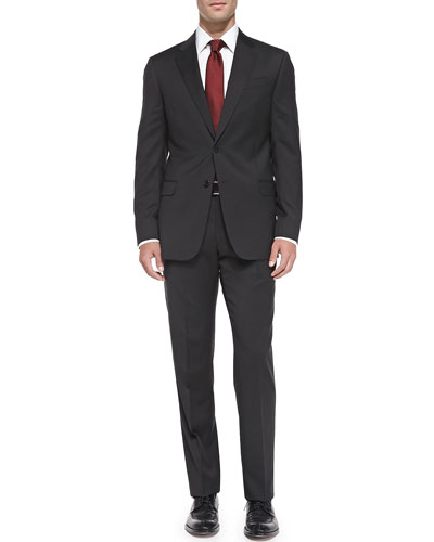 Wool Basic Suit, Gray