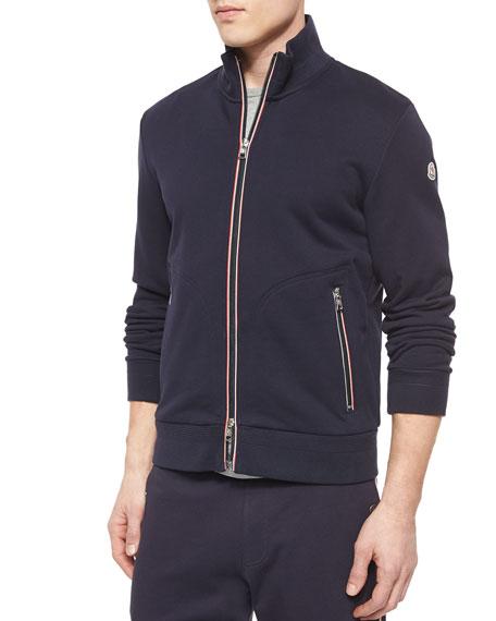 180d8480b211b Full-Zip Cotton Track Jacket Navy