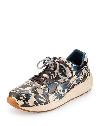 XS698 Camo Sneakers, Cream Pink