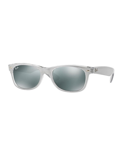 New Wayfarer Metallic Sunglasses, Silver