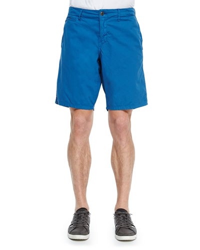 Bedford Cord Cotton Shorts, Blue