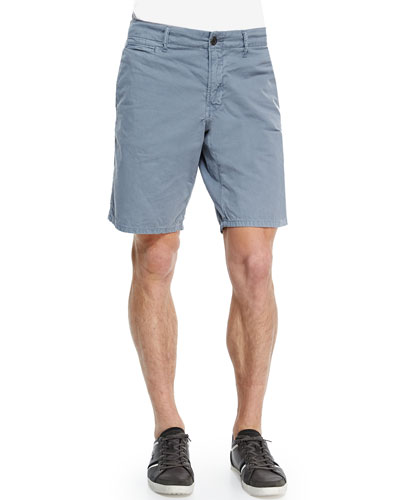 Bedford Cord Cotton Shorts, Light Gray