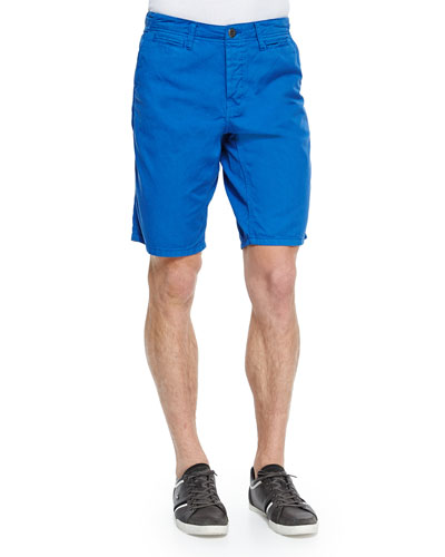 Cotton-Twill Shorts, Royal Blue