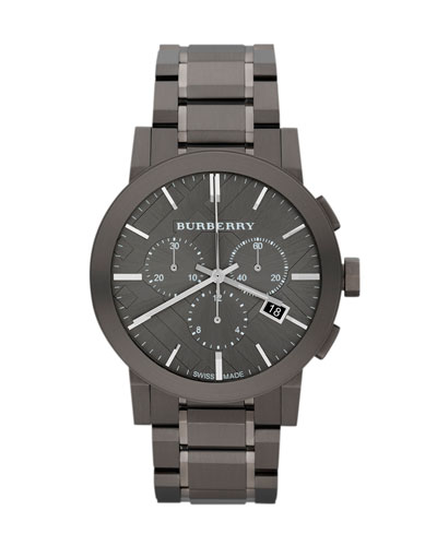 42mm Check-Dial Chrono Watch