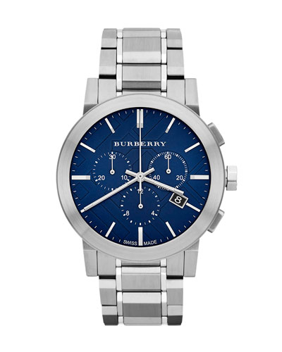 Check-Dial Chrono Watch, Blue