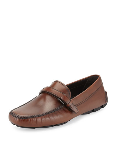 Leather Driver Loafer, Brown