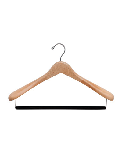 "17"" Wooden Suit Hanger, Natural Finish"