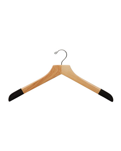 "19"" Wooden Sweater and Polo Hanger, Natural Finish"