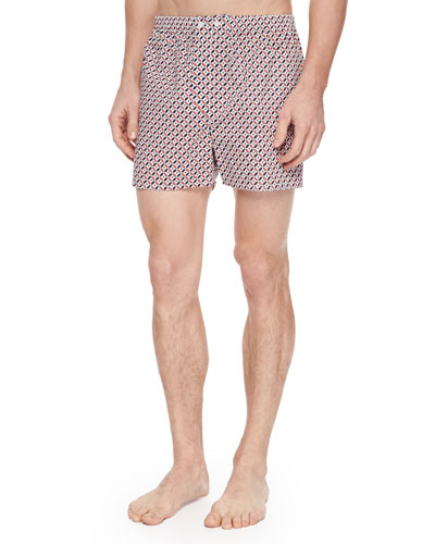 Nelson Star-Print Boxer Shorts, Coral