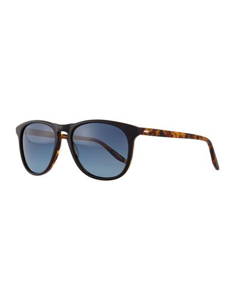 Barton Perreira Mac Round/Square Sunglasses, Black