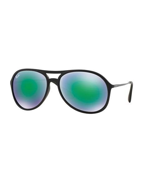 54c64d425896 Ray-Ban Plastic Aviator Sunglasses with Mirror Lenses