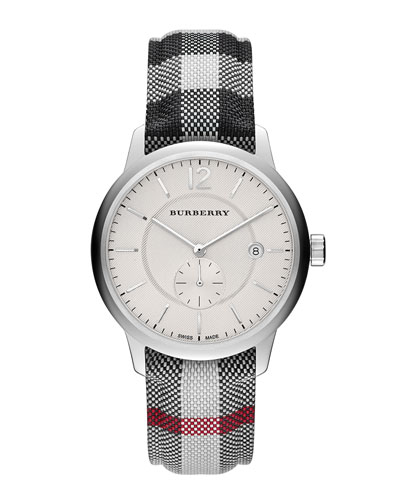 40mm Check-Strap Watch