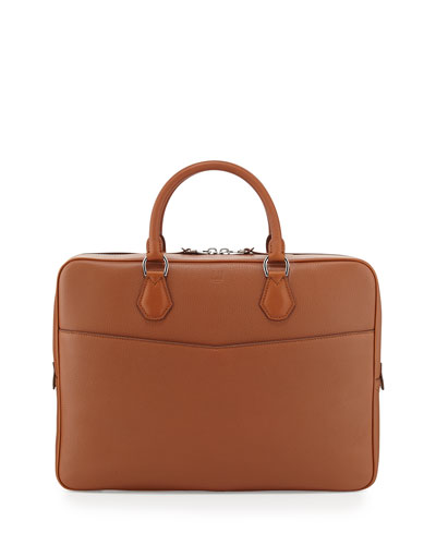 Boston Leather Single Document Case, Tan