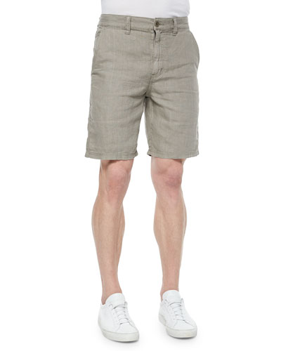 Kalamata Triple-Needle Cotton Shorts, Brown