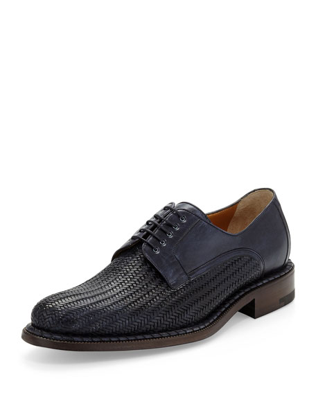 A.TESTONI Black Label Leather Derby Shoes
