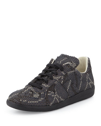 Replica Pixelated Low-Top Sneaker, Gray