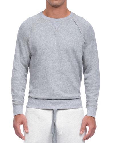 Active Core Woven Crewneck Sweatshirt, Light Gray