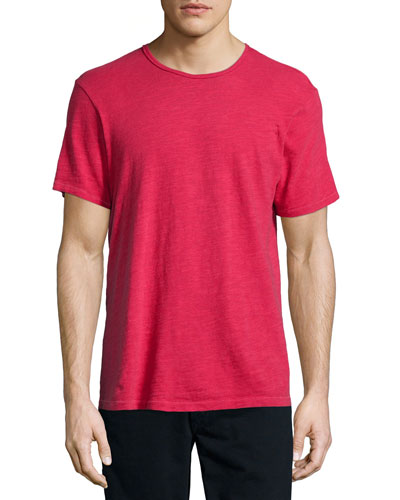 Basic Short-Sleeve Jersey Tee, Red