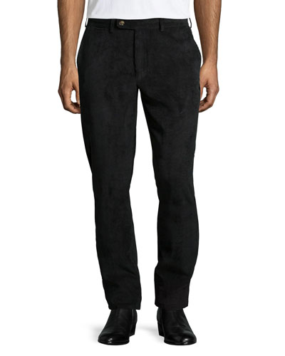 NanoLuxe Corduroy Pants, Black