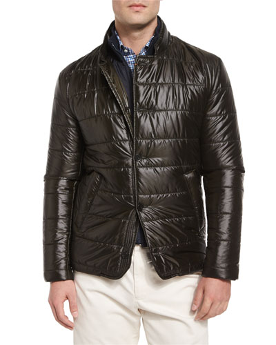 Monza Quilted Hybrid Jacket, Green
