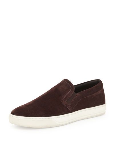 Barron Suede Slip-On Sneaker, Dark Red