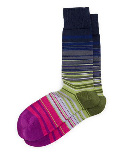 Higgle Striped Socks, Navy