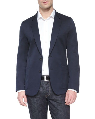 Soft Two-Button Soft Jacket, Navy