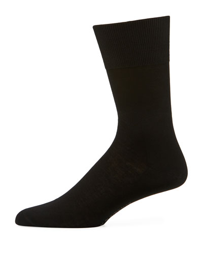Firenze Solid Knit Socks, Brown