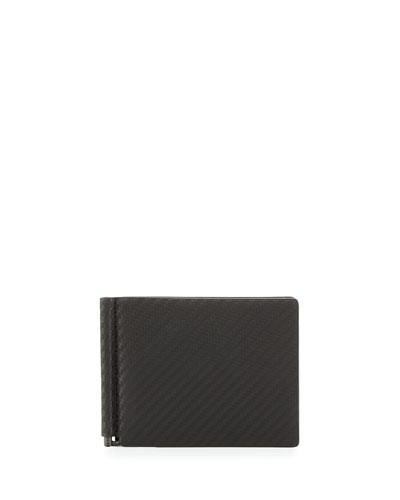 Chassis Money-Clip Billfold Wallet, Black