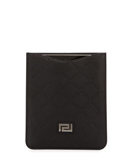 Men's Embossed Leather Tablet Sleeve