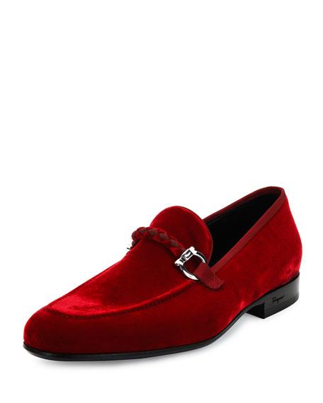 6f5190f6763 Salvatore Ferragamo Lord 2 Velvet Slip-On Loafer