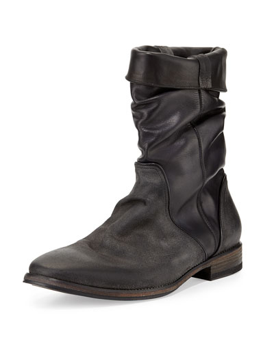 Fleetwood Leather Pull-On Boot, Gray